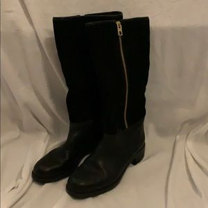 Knee high Coach suede and leather boots